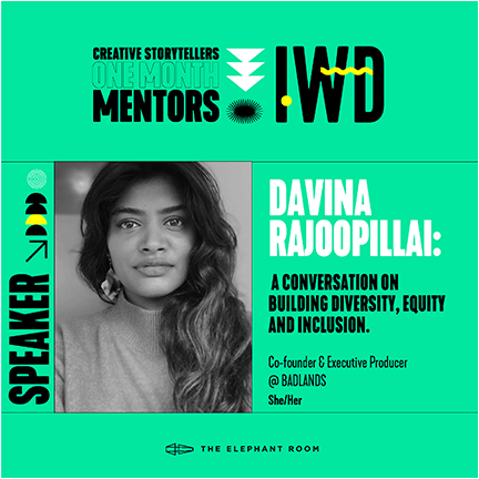 OMM IWD speakers Davina Rajoopillai